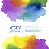 Abstract watercolor background for your design — Stock Vector