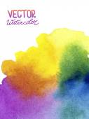 Absctract background with watercolor splash — Stock Vector
