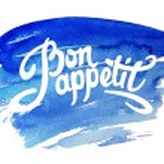 Bon appetit hand drawn lettering — Stock Vector #70356047
