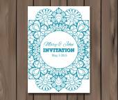Wedding invitation, card template — Stock Vector