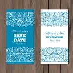 Wedding invitation, card template — Stock Vector #71569525