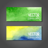 Vector watercolor banners. Abstract background with watercolors — Stock Vector