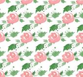 Vector illustration - Seamless pattern with watercolor flowers — Stock Vector