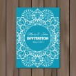 Wedding invitation, card template — Stock Vector #72289991