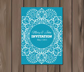 Wedding invitation, card template — Stock Vector