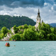 Panoramic view of Lake Bled — Stock Photo #60530113
