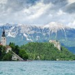 Panoramic view of Lake Bled — Stock Photo #60530191
