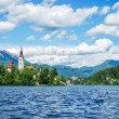 Panoramic view of Lake Bled — Stock Photo #60532309