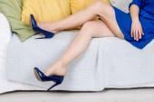 Pretty female legs with high heels — Stock Photo