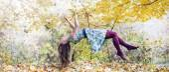 Levitation portrait of young woman — Stock Photo