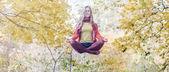 Levitation portrait of beautiful girl — Stock Photo