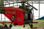 Westland Whirlwind helicopter at Duxford Imperial war museum — Stock Photo
