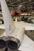 British Aircraft Corporation TSR-2 at IWM, Duxford, Imperial War Museum, England, UK — Zdjęcie stockowe