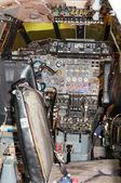 Cockpit of British Aircraft Corporation, Concorde, G-AXDN, IWM, Duxford, Imperial War Museum, England, UK — Stock Photo