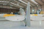 Royal Navy Hawker Sea Fury T.20 WG655 restored, Duxford, Imperial War Museum — Stockfoto