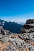 View of Hajr mountain range, Jebel Shams, Canyon of Oman — Stock Photo
