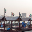 Traditional Abra ferries at the creek in Dubai, United Arab Emirates — Stock Photo #64959189