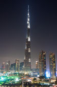 Dubai downtown and Burj Khalifa — Stock Photo
