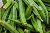 Pile of fresh Okra — Stock Photo