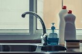 Close up of kitchen cleaners — Stock Photo