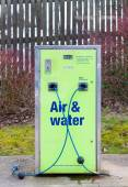 Air and water refilling at service station — Stock Photo