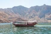 Dhow in sea of Oman, Indian ocean, Musandam, Oman — Stok fotoğraf
