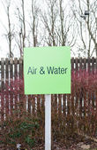 Sign for Air and water refilling at service station — Stock Photo