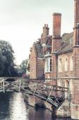 Mathematical bridge vertical view, Cambridge, UK — Stock Photo