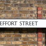 Road sign conceptual image Effort street: Maximum effort for max — Stock Photo #70348823