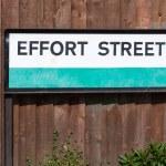 Road sign conceptual image Effort street: Maximum effort for max — Stock Photo #70349267
