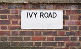 Ivy Road  Sign mounted on brick Wall — Stock Photo