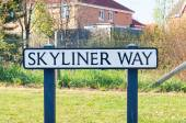 Sign for Skyliner Way in Bury St Edmunds, England — Stock Photo