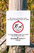 Warning sign No dog fouling close up — Stock Photo