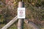 Warning sign No dog fouling — Stock Photo