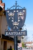 Sign for Easgate in Bury St Edmunds — Stock Photo