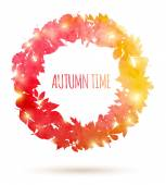 Watercolor painted autumn leaves — Stock Vector