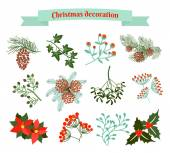 Christmas decoration .  set of elements — Stock Vector