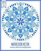 Abstract vector floral ornamental frame. — Stock Vector
