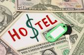 Concept of saving - hostel cheaper than hotel — Stock Photo