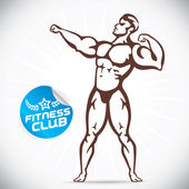 Attraktiva Bodybuilder illustration — Stockvektor