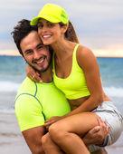 Runner couple — Stockfoto