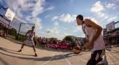 Final basketball match — Stock Photo
