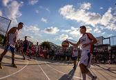 Definitieve basketbal wedstrijd — Stockfoto