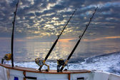 Boat fishing rods — Stock Photo