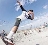 Teenage skateboarders training — Stock Photo