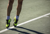 Tennis player in game — Stock Photo