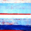 Red, White and Blue Abstract Art Painting — Stock Photo #57876211