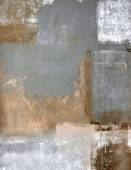 Grey and Brown Abstract Art Painting — Stock Photo