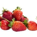 Pile of Fresh strawberry lay on Isolated background. — Stock Photo #52091045