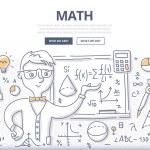Постер, плакат: Math Doodle Concept